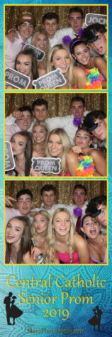 Students enjoying the photo booth from the 2019 Prom. The 2020 Prom was cancelled due to the COVID-19 outbreak.