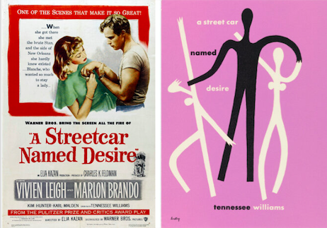 Two of the original movie posters for A Street Car Named Desire (c) Warner Brothers